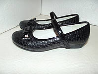 Черные школьные туфли для девочки, р. 32 - 37