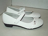 Белые школьные туфли, р. 31 - 36