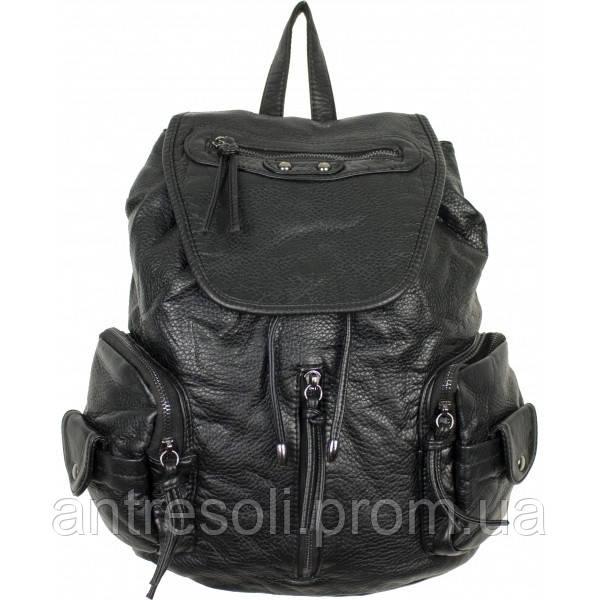Рюкзак черный женский код 12-305