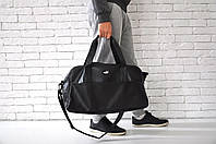 Спортивная сумка пума (Puma), черная из искусственной кожи