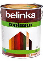 Belinka Топлазурь 10 л (пиния), Деревозащитная лак-пропитка на воске, с УФ фильтром