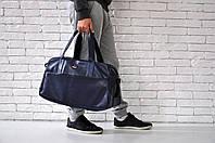 Спортивная сумка Reebok, темно-синяя, искусственная кожа