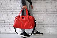 Спортивная сумка пума (Puma), искусственная кожа красного цвета
