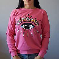 Женский свитер свитшот КЕНЗО розовый