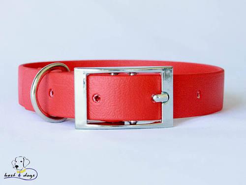 Ошейник из биотана, Красный, 25мм(пряжка металл)