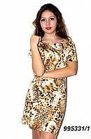Летнее платье с коротким рукавом 42,44,46,48