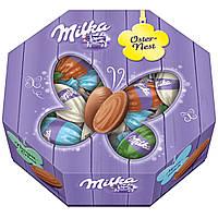 Шоколадные яички Milka Oster Nest с шоколадной начинкой в коробке, 144 г., фото 1