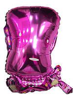 Фольгированный воздушный шарик Щенок розовый 41 х 61 см.