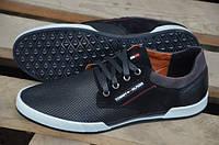 Мужские кожаные кеды кроссовки Tommy Hilfiger перфорация
