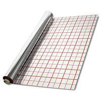 Фольга для теплого пола с разметкой рулон 50 кв/м (55микрон )