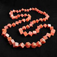 Коралл губчатый, кубики, бусы, 220БСК, фото 1