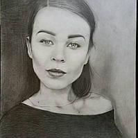 Портрет по фотографии на заказ карандашом