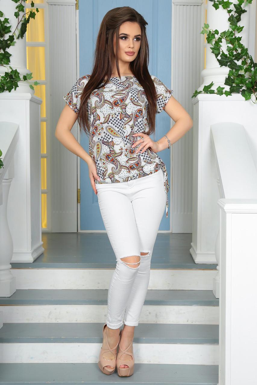 Женская хлопковая блузка  турецкий огурец