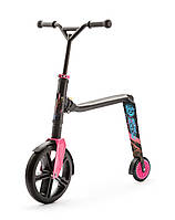 Самокат Highwaygangster черно-розово-синий, от 5 лет, макс 100кг, Scoot and Ride
