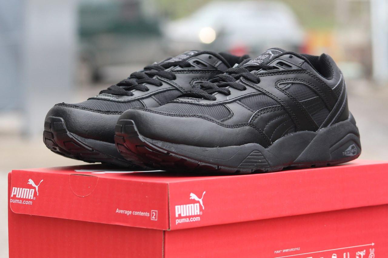 Подростковые (женские) кроссовки Puma Trinomic,черные,38р