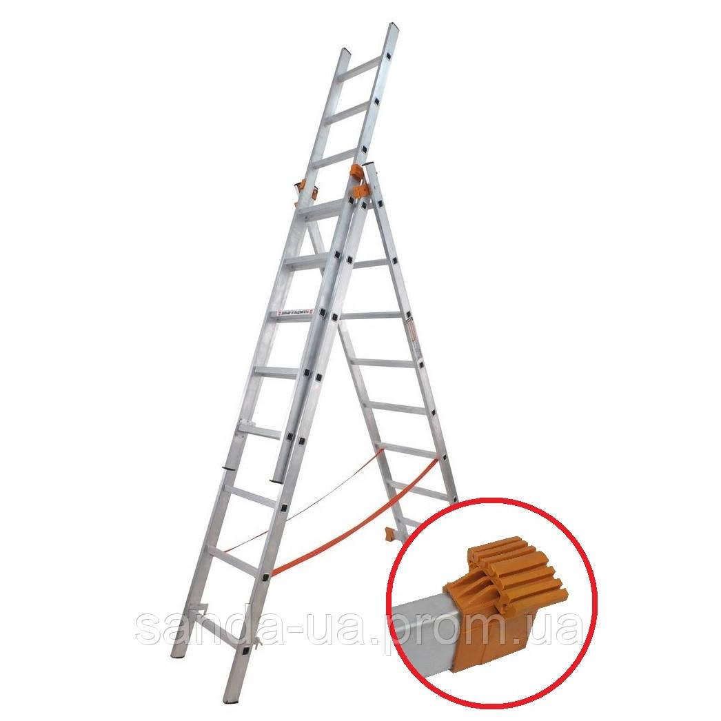 Лестница универсальная-01411 (3*11)BUDFIX 62194