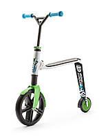 Самокат Highwaygangster бело-зелено-синий, от 5 лет, макс 100кг, Scoot and Ride