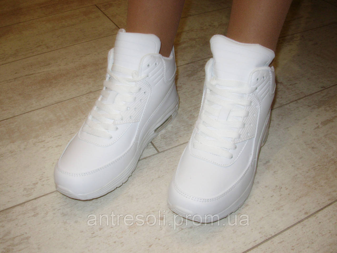 Кроссовки белые высокие Т691 р 36