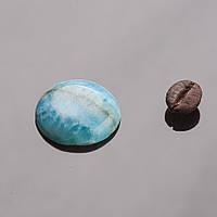 Кабошон круглый голубой агат d-20мм