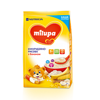 Молочная каша Milupa кукурузно-рисовая с бананом 210 гр.с 5 мес