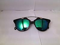 Стильные солнцезащитные очки, цвет линз сине-зеленый