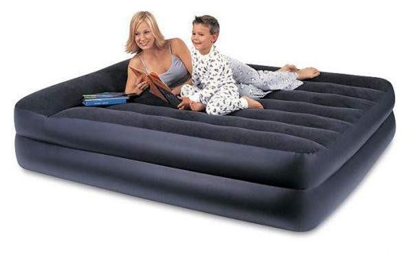 Надувной Матрас Кровать с Подголовником и встроенным насосом INTEX 667