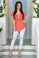 Стильная женская удлиненная блузка