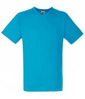 Классная мужская футболка с V-образным вырезом ультрамаринового (голубого) цвета