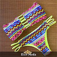 Женский модный купальник с геометричным узором (3 цвета)