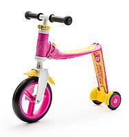 Самокат Highwaybaby+ розово-желтый, до 3 лет/20кг, Scoot and Ride, фото 1