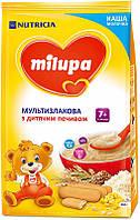 Каша Milupa сухая молочная мультизлаковая с печеньем 210 гр.