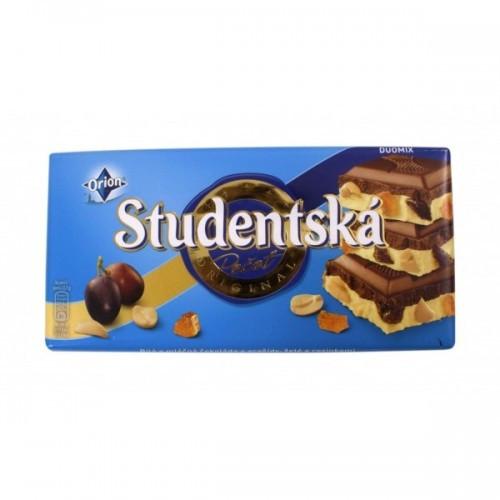 Шоколад бело молочный Studentska с изюмом 180г