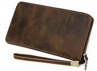 Bx8801R Мужской кожаный клатч коричневый