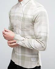 Мужская рубашка в клетку Hadin от Solid  в размере L, фото 2