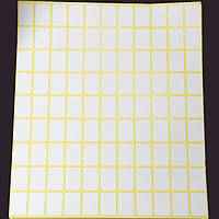 Ценники Прямоугольные, На клеевой основе, Цвет: Белый, Размер: 19х13мм, 99шт/лист, 15листов/набор, (УТ100006029)