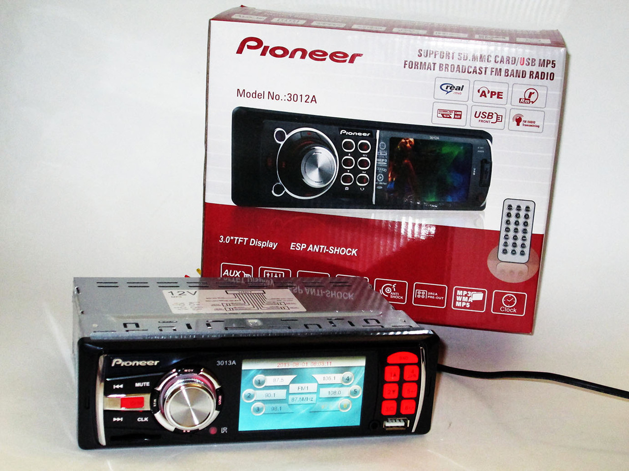 "Автомагнитола Pioneer 3013A - 3"" Video экран -Divx/mp4/mp3 USB+SD"