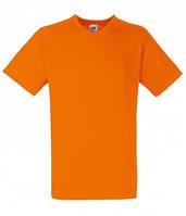 Оранжевая молодежная мужская футболка с V-образным вырезом