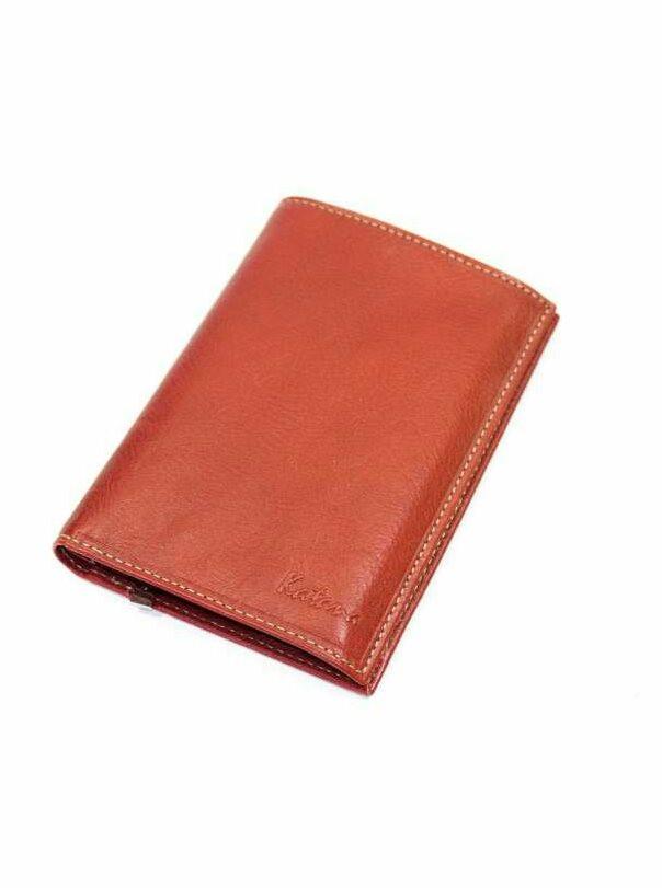 Кошелек мужской кожаный Катана оранжевый 853018.