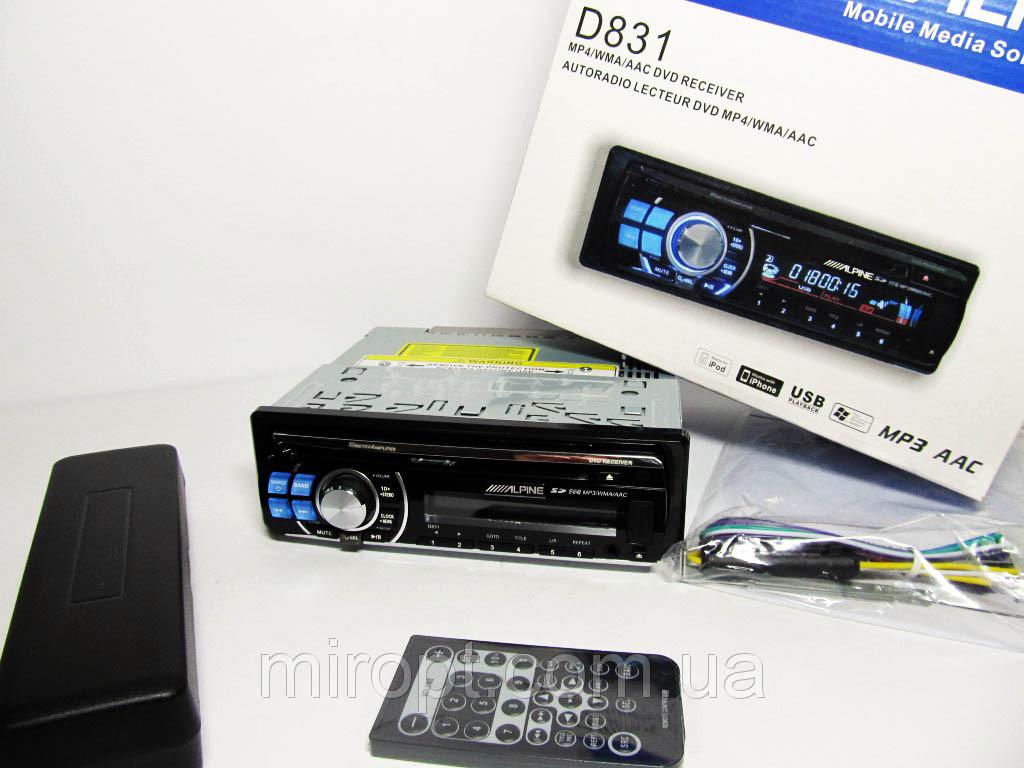 Alpine D831 DVD магнитола + USB+SD+AUX+FM (4x50W)