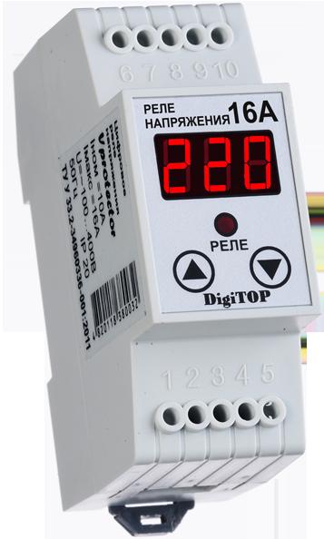 Реле напряжения  DigiTOP V-protector 16A (DIN-рейка)