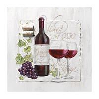 """Декупажная салфетка """"Красное вино"""", 33*33 см, 18 г/м2, Ambiente, 13306995"""