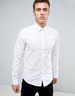 Мужская белая рубашка от Solid  в размере L