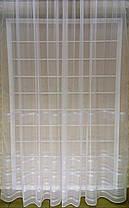 Тюль Полоска Белый, 3 метра, фото 2