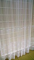 Тюль Полоска Белый, микросетка с вышивкой, фото 3