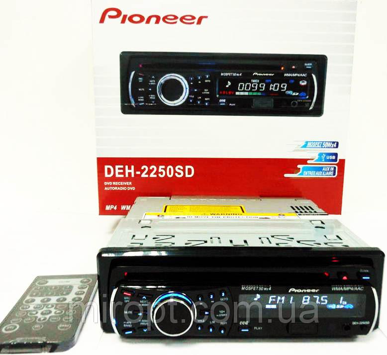 Pioneer DEH-2250SD DVD магнитола + USB+SD+AUX+FM (4x50W)