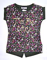Стильная футболка Wanex Хаки для девочки