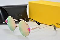 Солнцезащитные очки Fendi круглые розовые