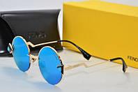Солнцезащитные очки Fendi круглые голубые