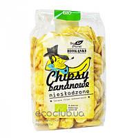 Чипсы банановые без сахара Bio Planet 150г