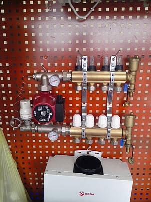 Коллектор для теплого пола AquaWorld GROSS на 4 выхода, фото 2